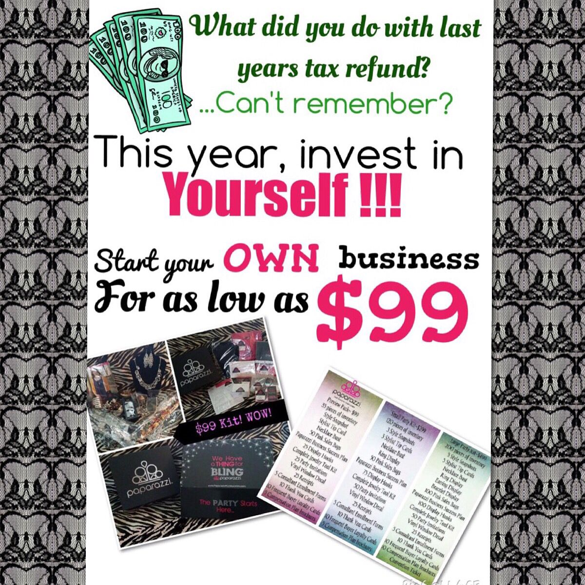 Join today at BLINGFOR5.COM! Invest in yourself!