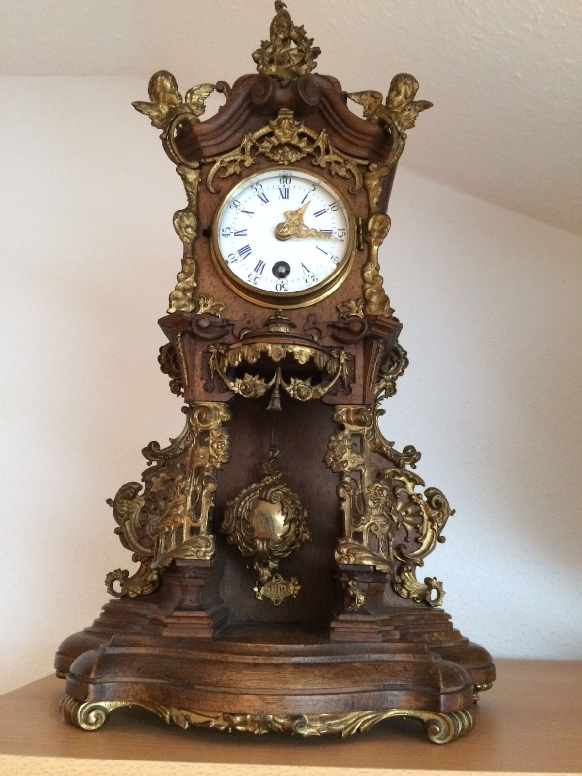 Lenzkirch Kaminuhr Mit Pendel Ca Um 1880 Ebay Antique Wall Clocks Antique Clocks Vintage Clock
