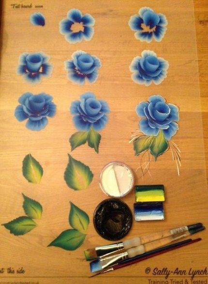 Photo of New Painting Techniques Flowers One Stroke Ideas