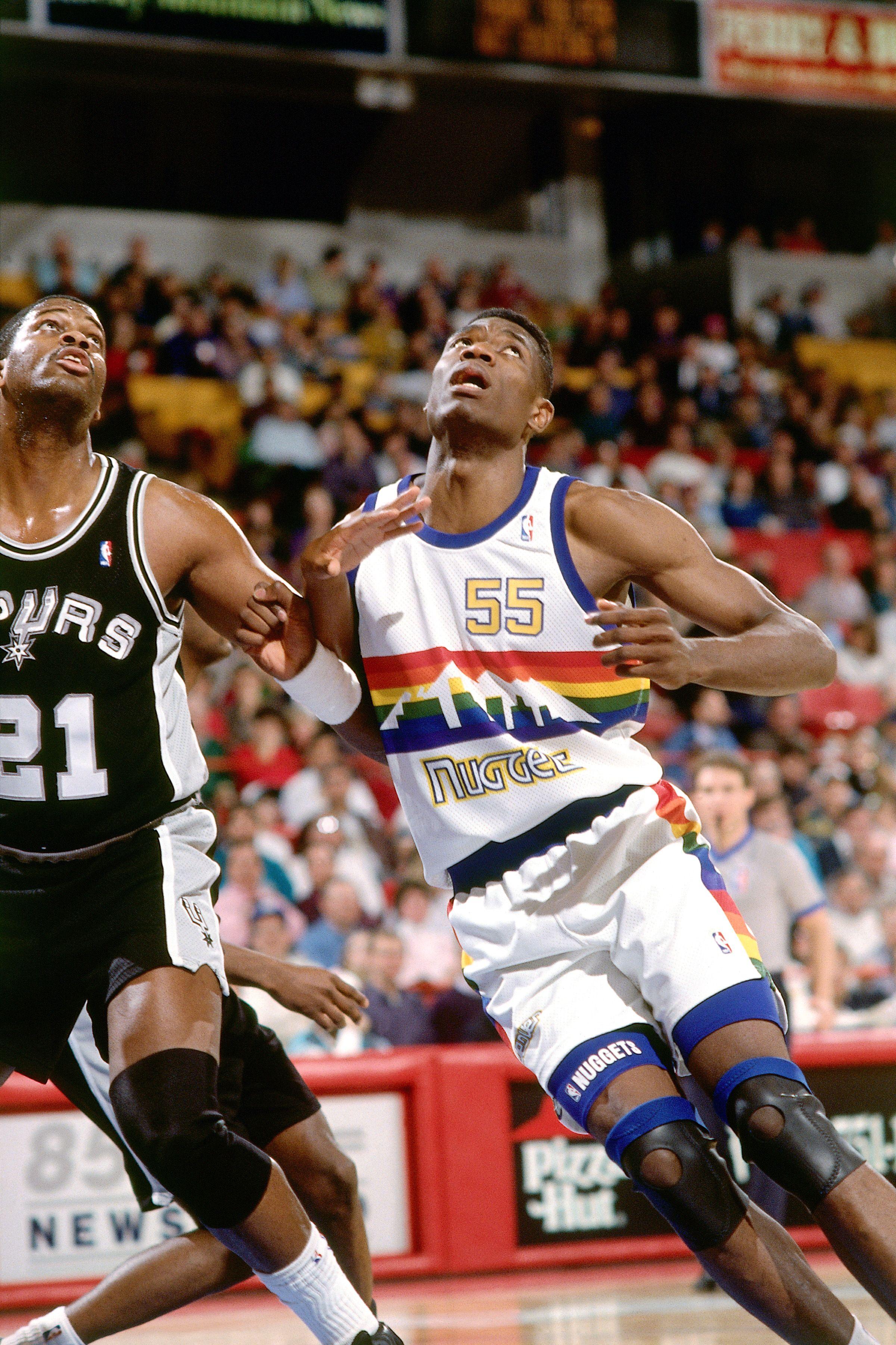 pretty nice 8f7c9 bdc0e Dikembe Mutombo - Denver Nuggets 1991   Denver Nuggets   Nba ...