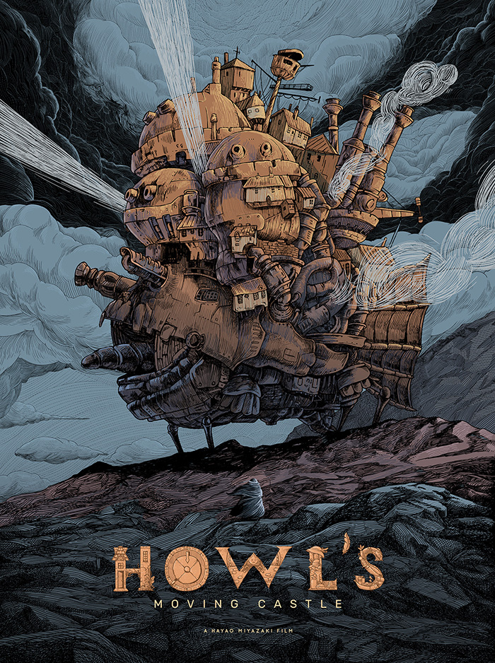 Photo of Howl's Moving Castle by Raf Banzuela – Home of the Alternative Movie Poster -AMP-