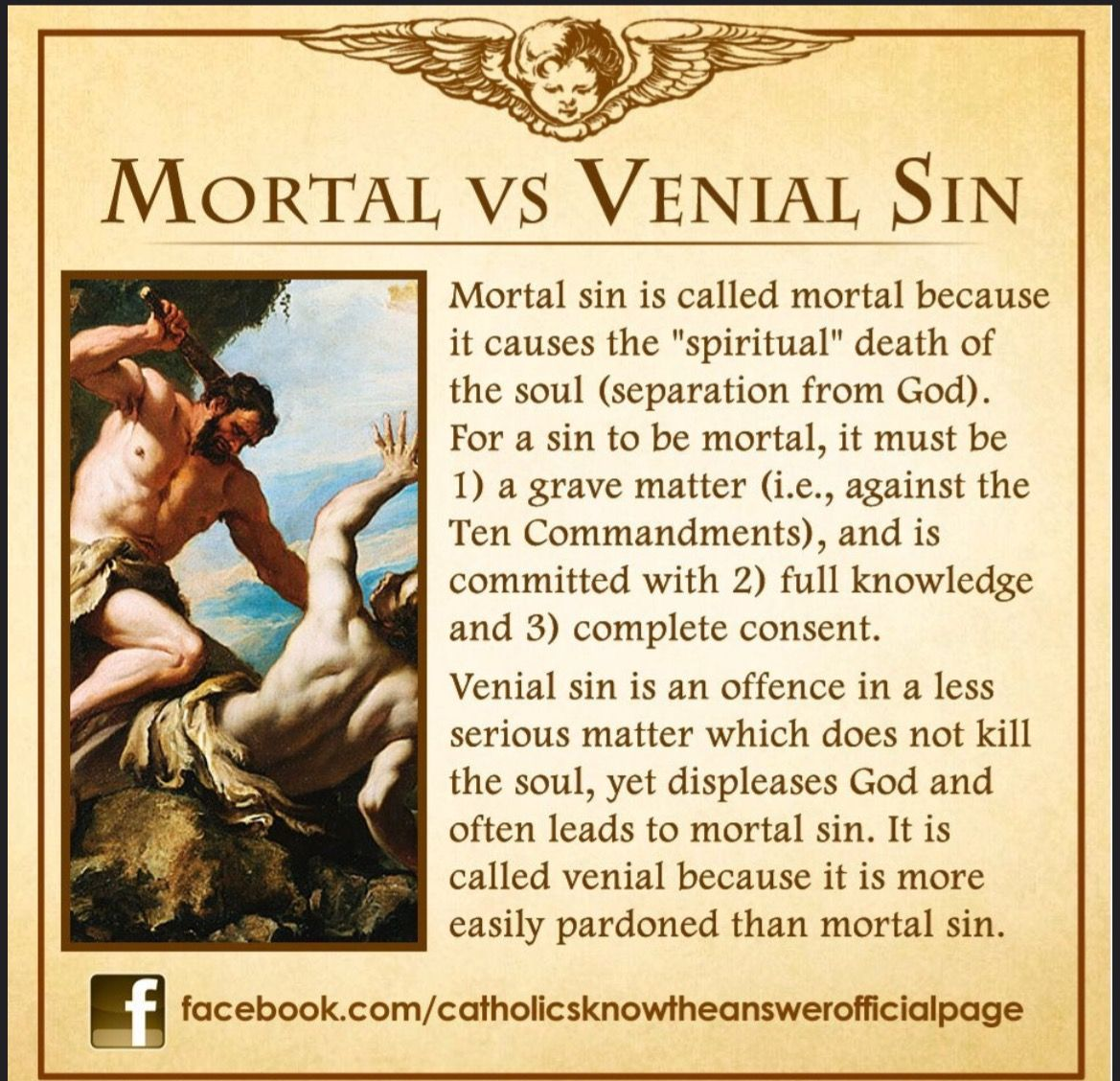 Mortal Vs Venial Sin