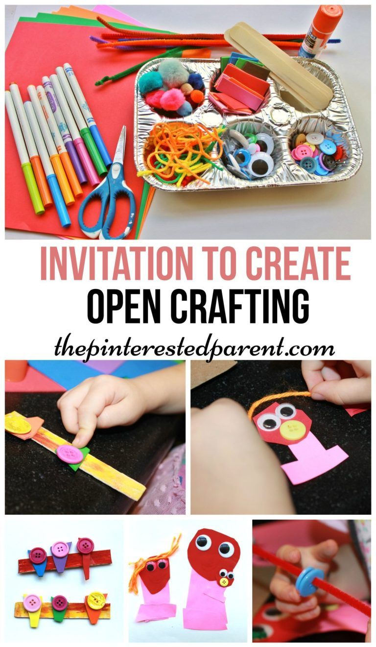 Open-ended Crafting | Open ended art, Invitation to play ...