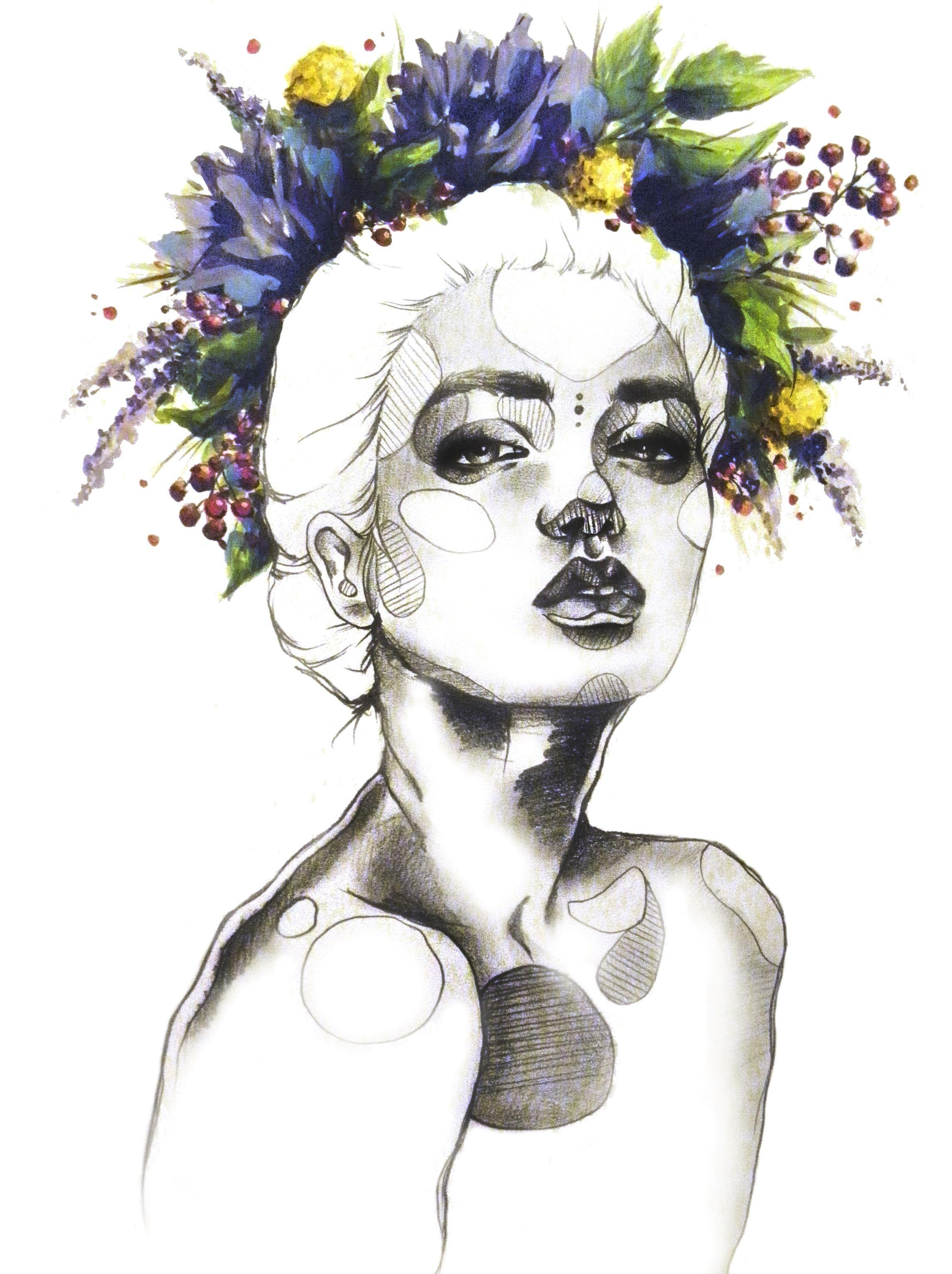 Tumblr girl fashion sketch
