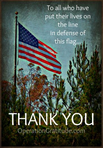 Say it, write it, or show it: Our service members -- past and present -- deserve our thanks!