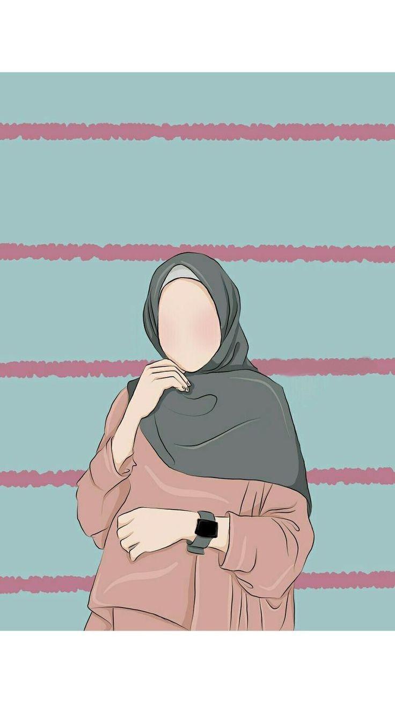 Ilustrasi Karakter Hijab Couple Ilustrasi Karakter Hijab In 2020 Hijab Cartoon Islamic Cartoon Anime Muslim