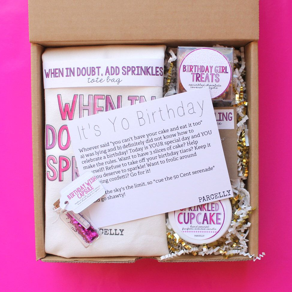 Birthday gift basket birthday gift box for her best friend