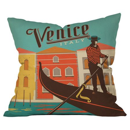 Throw pillow with a retro Venice motif by Anderson Design Group for DENY Designs.  Product: PillowConstruction Material: ...