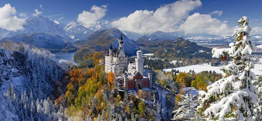 Neuschwanstein Castle 2000pc Panoramic Jigsaw Puzzle By Ravensburger Neuschwanstein Castle Ravensburger Castle