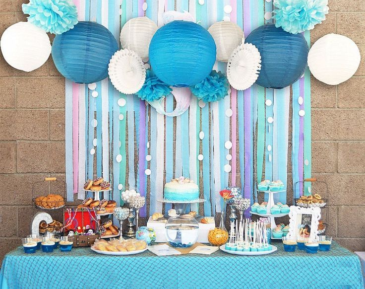 Image Result For How Much Crepe Streamers To Cover A Wall Sofia MermaidCrepe StreamersBirthday Party