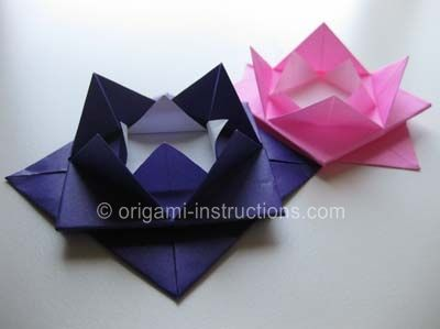 Origami Lotus Blossom Folding Instructions How To Fold An Origami