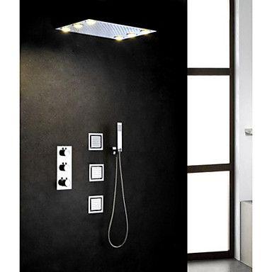 rainshower bruser Bruser Moderne LED Termostatisk Regnbruser Sidespray Håndbruser  rainshower bruser