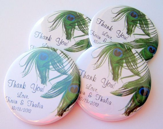 Peacock Feather Wedding Favors