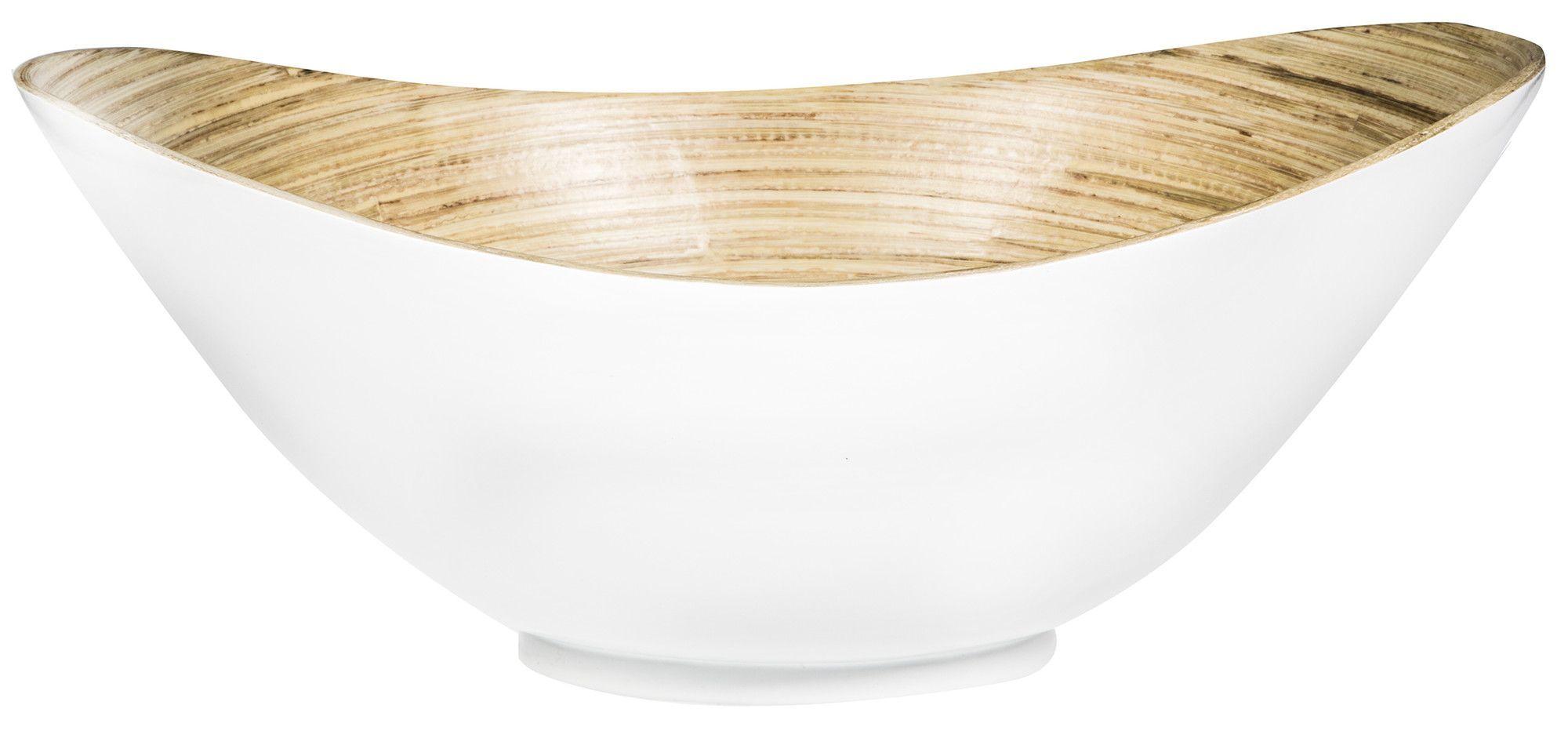 Oval Bamboo Decorative Bowl