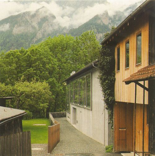 Peter Zumthor - Wohnhaus und Atelier (House and Studio) Haldenstein Chur Grisons Switzerland (2002-2004)
