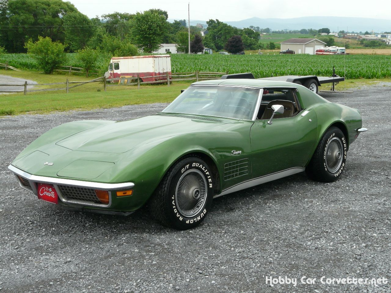 Check out this vette! 1972 Elkhart Green Corvette -- Classic C3 ...