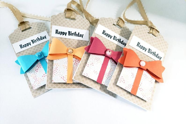 Gift Tag Add-on Gift Wrapping Rustic Tags Custom Gift Tags Happy Birthday Tags Tied With Twine To Your Package For A Beautiful Rustic Finish