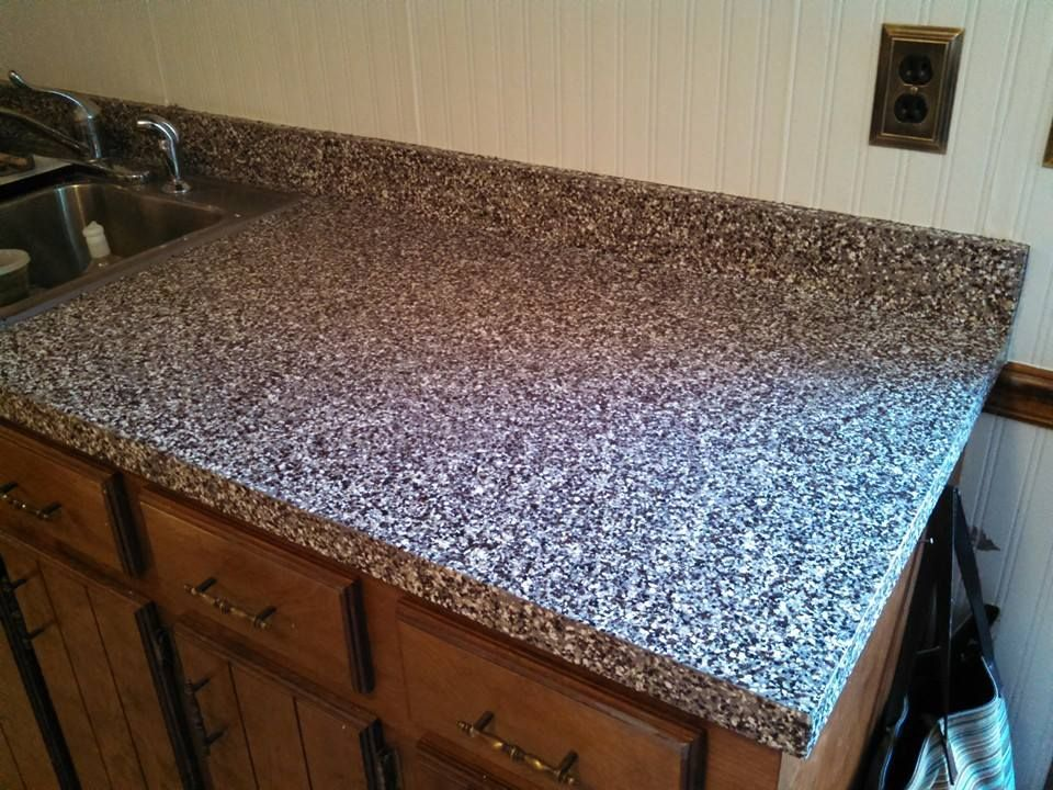 I Used Rustoleum Counter Top Paint Tinted Pewter For The Base The