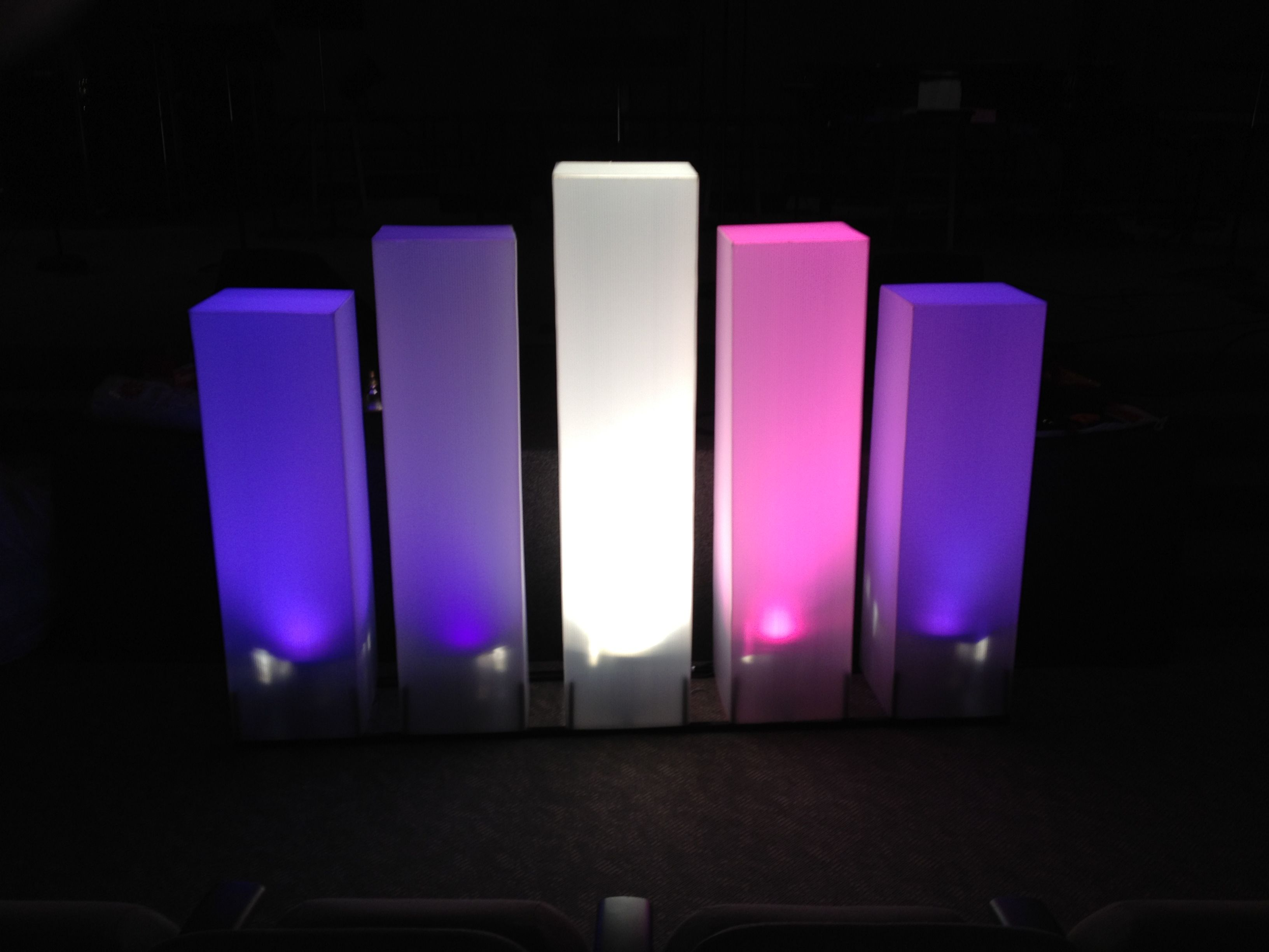 Stage chancel decor contemporary presentation of for Advent candle decoration