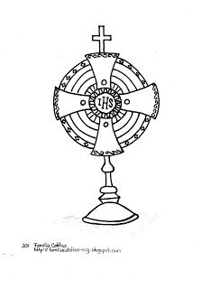 Catholic Family: The Holy Eucharist: coloring pages for children