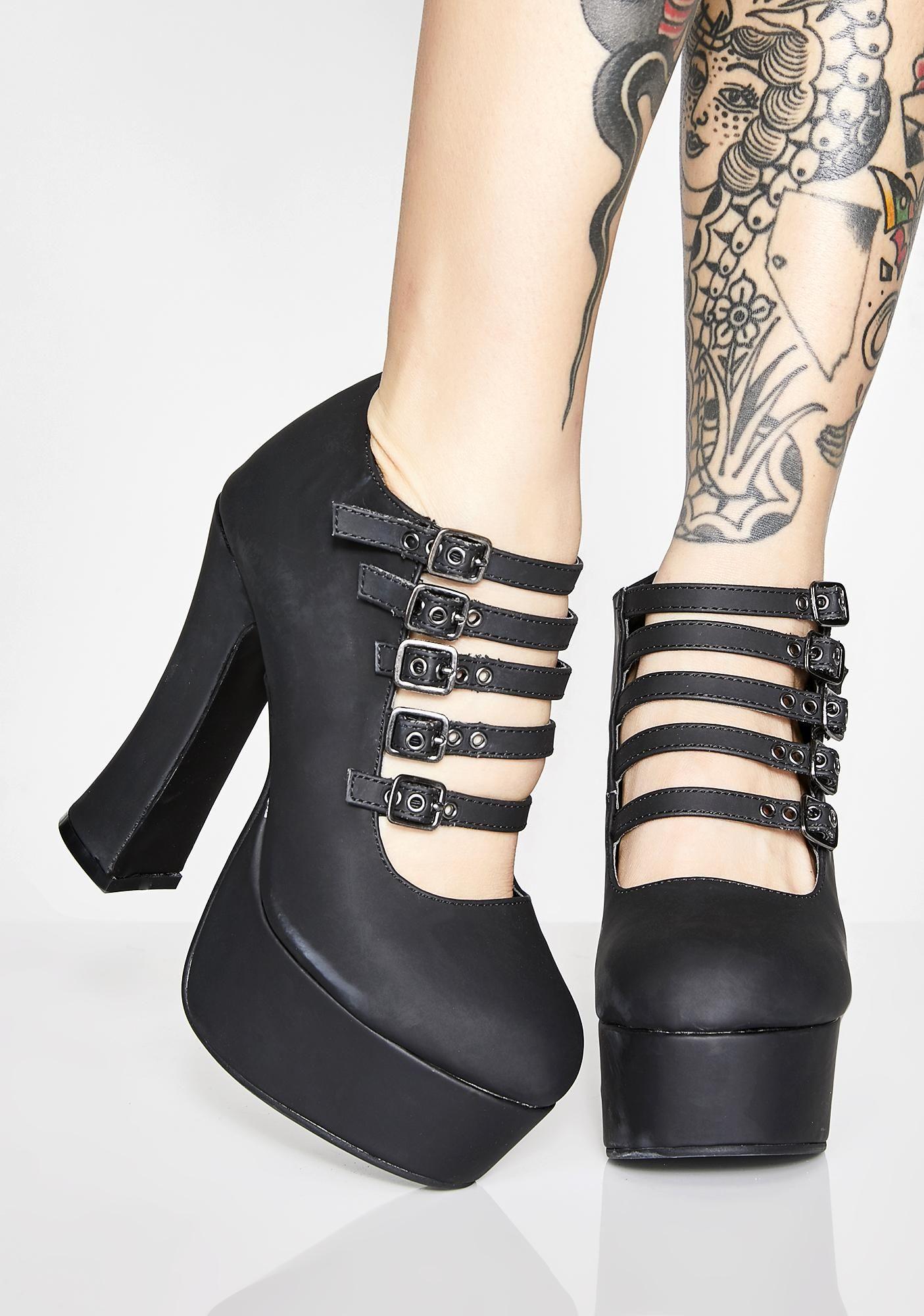 ac3edf0a193 T.U.K. Strappy Spice Platform Heels