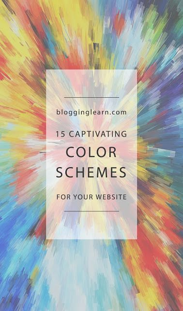 15 Captivating Color Schemes for your Website ~ Blogging As I Learn It