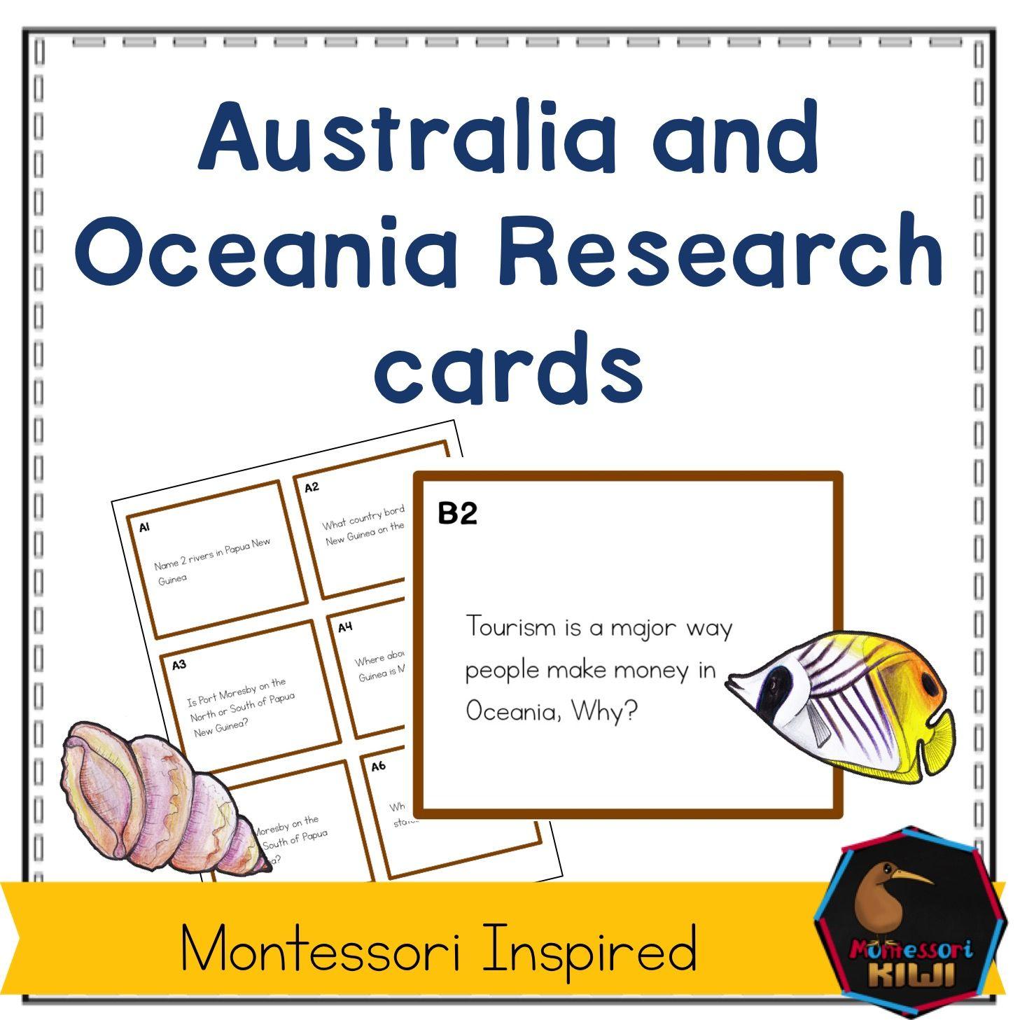 Australia and Oceania research cards | Kiwi Education - Teaching ...
