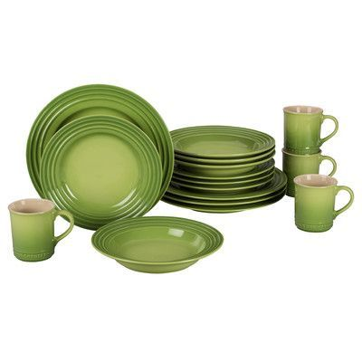 Le Creuset Stoneware 16 Piece Dinnerware Set Service for 4 Color  sc 1 st  Pinterest & Le Creuset Stoneware 16 Piece Dinnerware Set Service for 4 Color ...