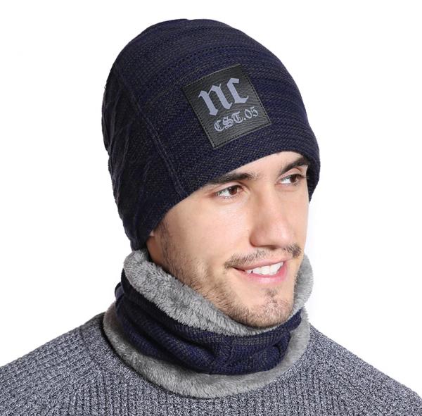 Zimný set - pánska čiapka a bavlnený šál golier v niekoľkých farbách ... da1e69e52e5