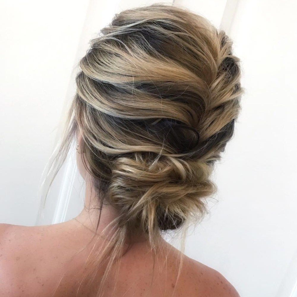 20 Inspiration Low Bun Hairstyles For Wedding 2019 2020: 50 Wonderful Updos For Medium Hair To Inspire New Looks