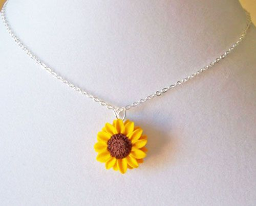 Sunflower pendant necklace yellow sunflower necklace i want one sunflower pendant necklace yellow sunflower necklace i want one of these aloadofball Gallery
