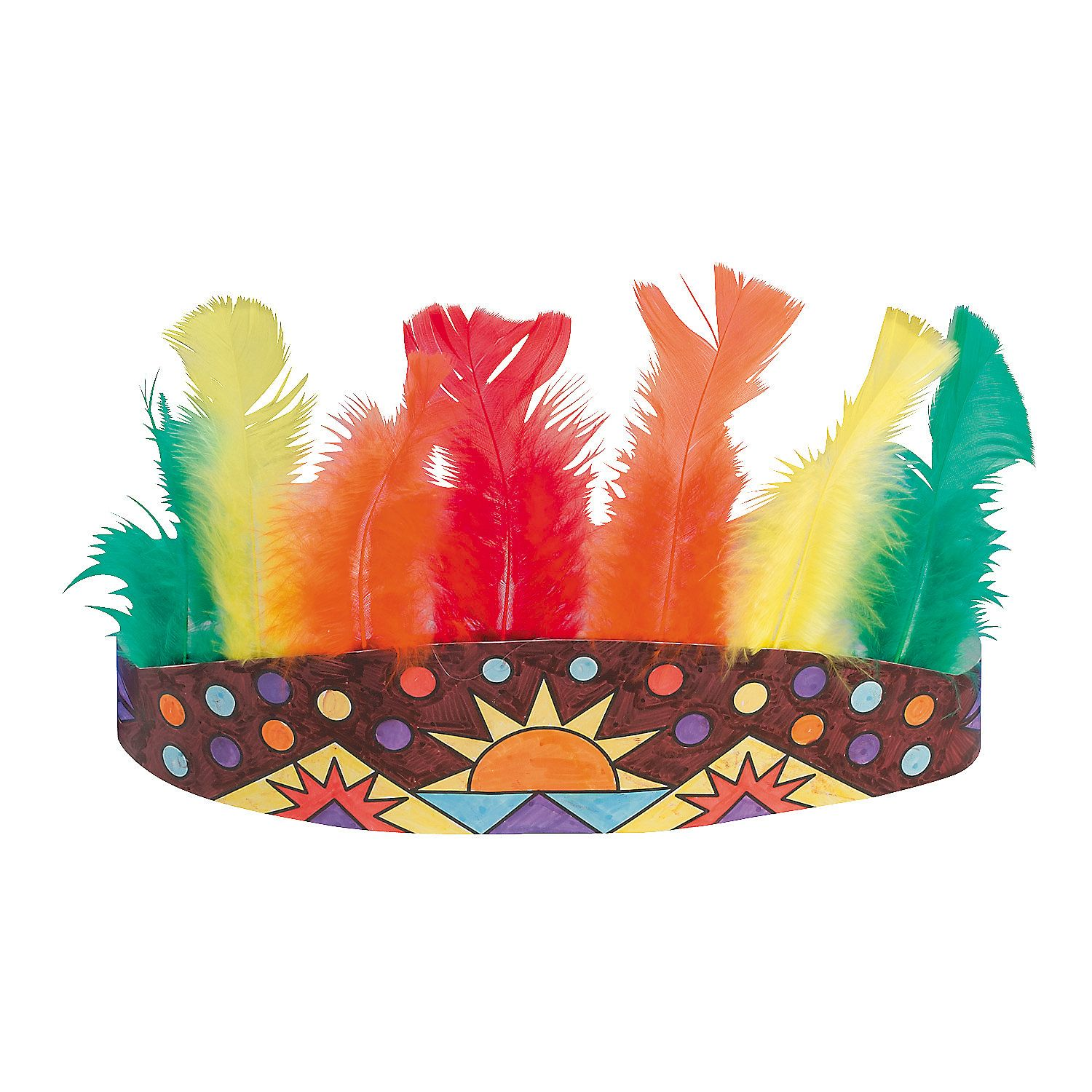 indians craft color your own native american headdresses orientaltradingcom - Native American Pictures Color