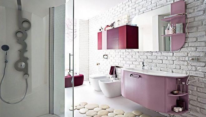 Decoratie Badkamer Muur : Bakstenen muur in de badkamer bathrooms inspirati