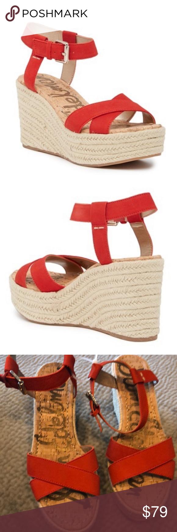 48bf8882ac3 Sam Edelman Shoes | San Edelman Destin Espadrille Wedge Sandal Nwot ...