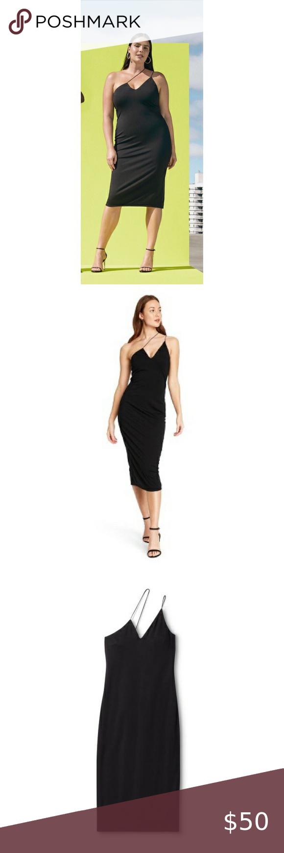 Cushnie For Target Black Body Con Dress V Neck Midi Dress Clothes Design Black Bodycon Dress [ 1740 x 580 Pixel ]