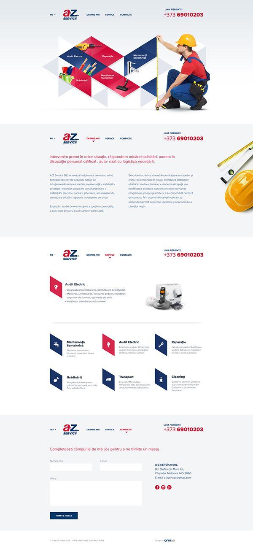 A Z Services Website Design By Andrei Hancu Via Behance