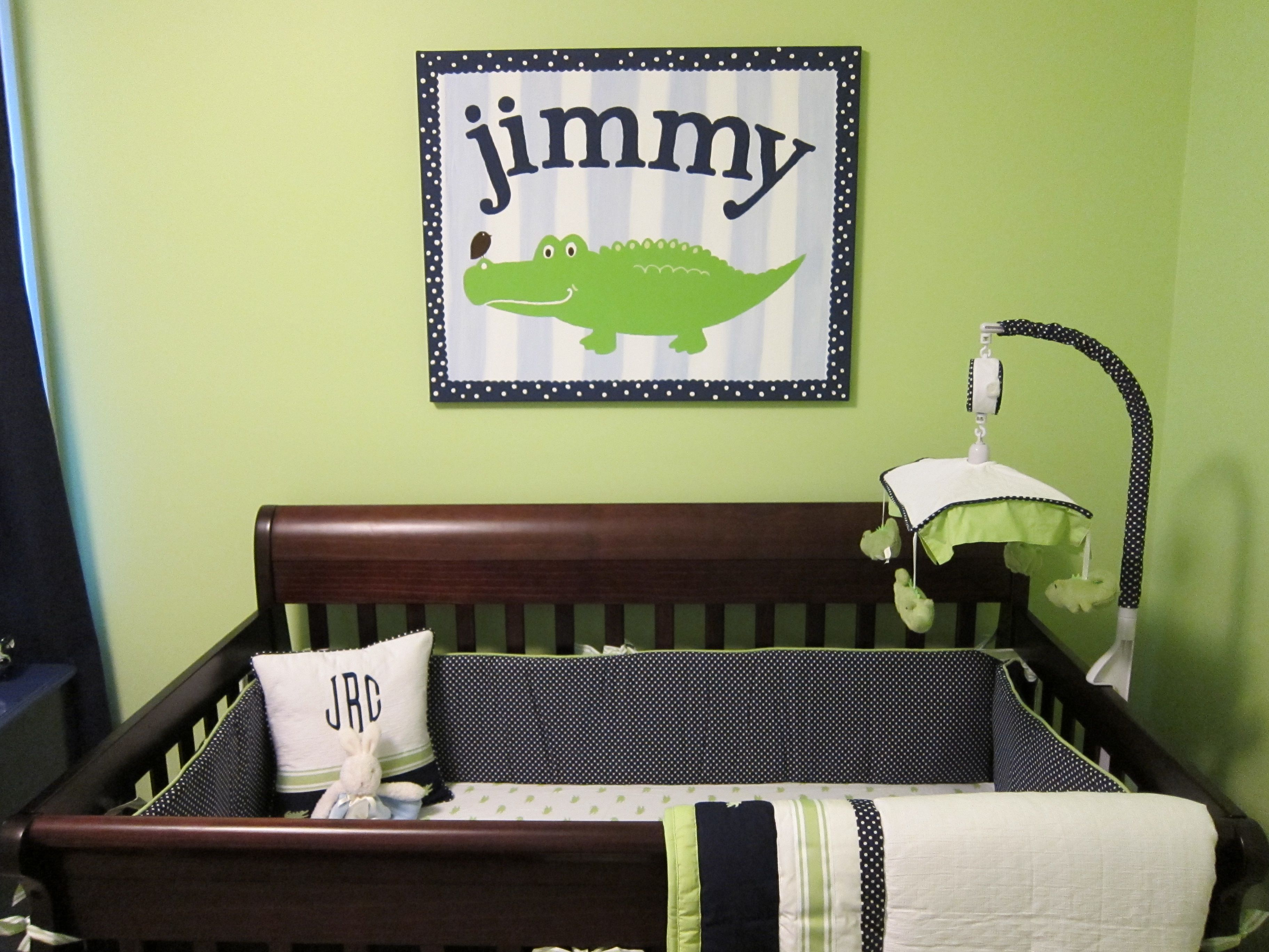 Alligator Canvas Painting To Match Nursery Bedding