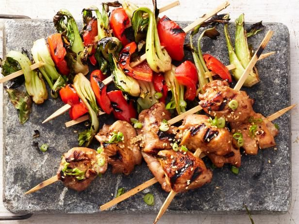Hoisin Chicken And Bok Choy Kebabs Recipe Try This Pinterest
