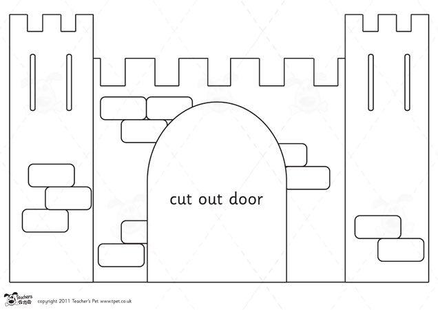 castle cut out template - teacher 39 s pet castle design project portcullis