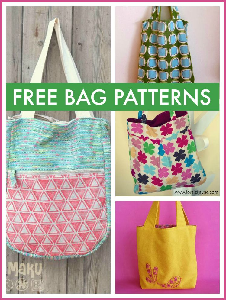 Free Bag Patterns - Purses, Totes & More | Bags to sew | Pinterest ...