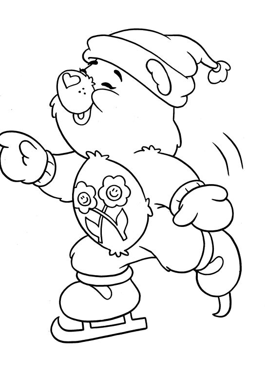 Bear Winter Fun Coloring Pages - Care Bears Coloring Pages ...