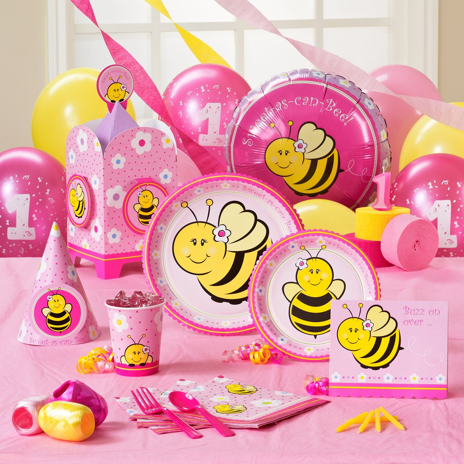 Sweet As Can Bee 1st Birthday Party Supplies