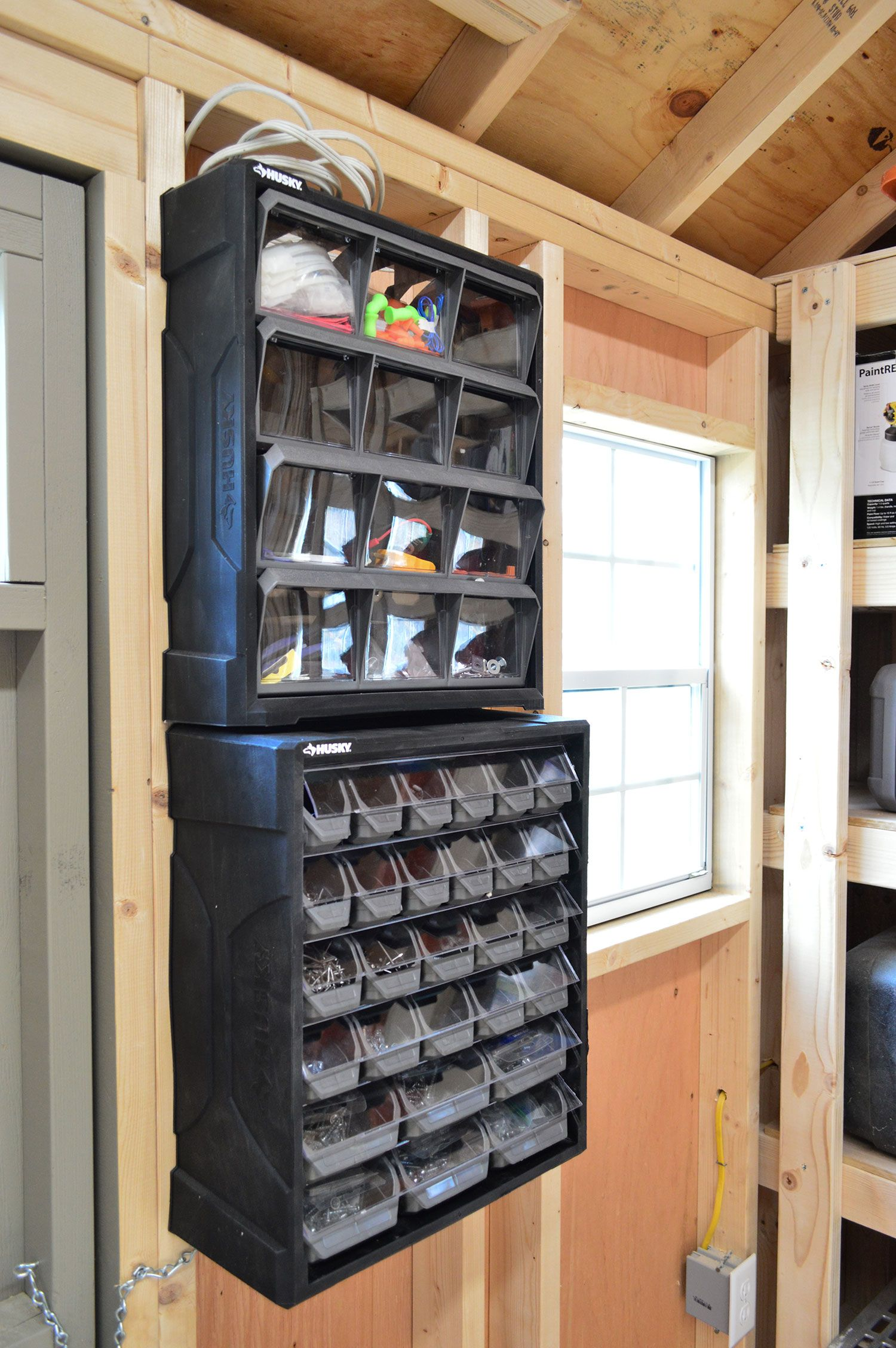 shed storage ideas small part organizers nails