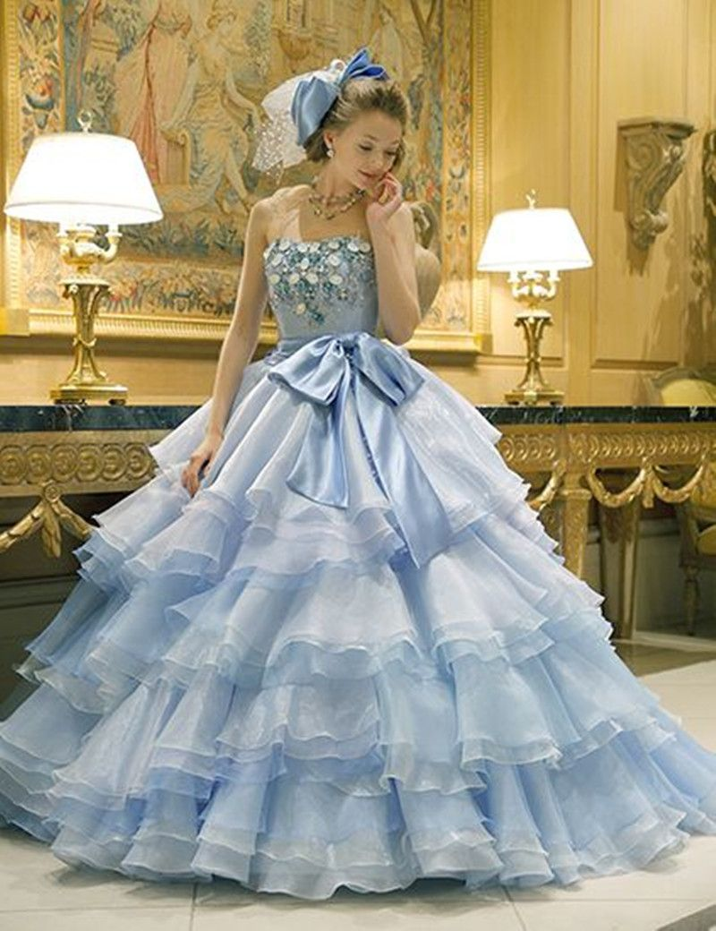 Find More Quinceanera Dresses Information about 2017 New Tiered Ball ...