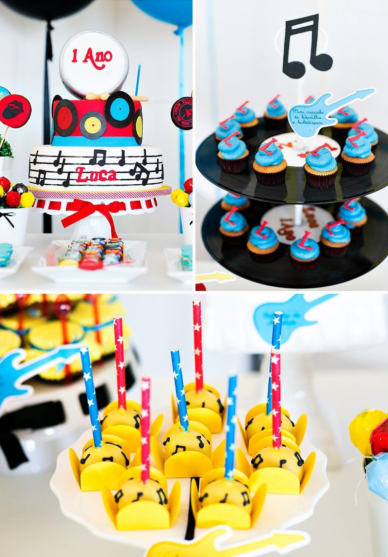 Bright Classic Rock N Roll First Birthday Party Finn S First