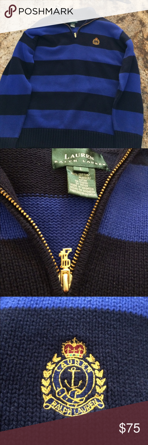 Ralph Lauren Quarter zipped collared sweater Great condition. Price negotiable Polo by Ralph Lauren Sweaters Zip Up