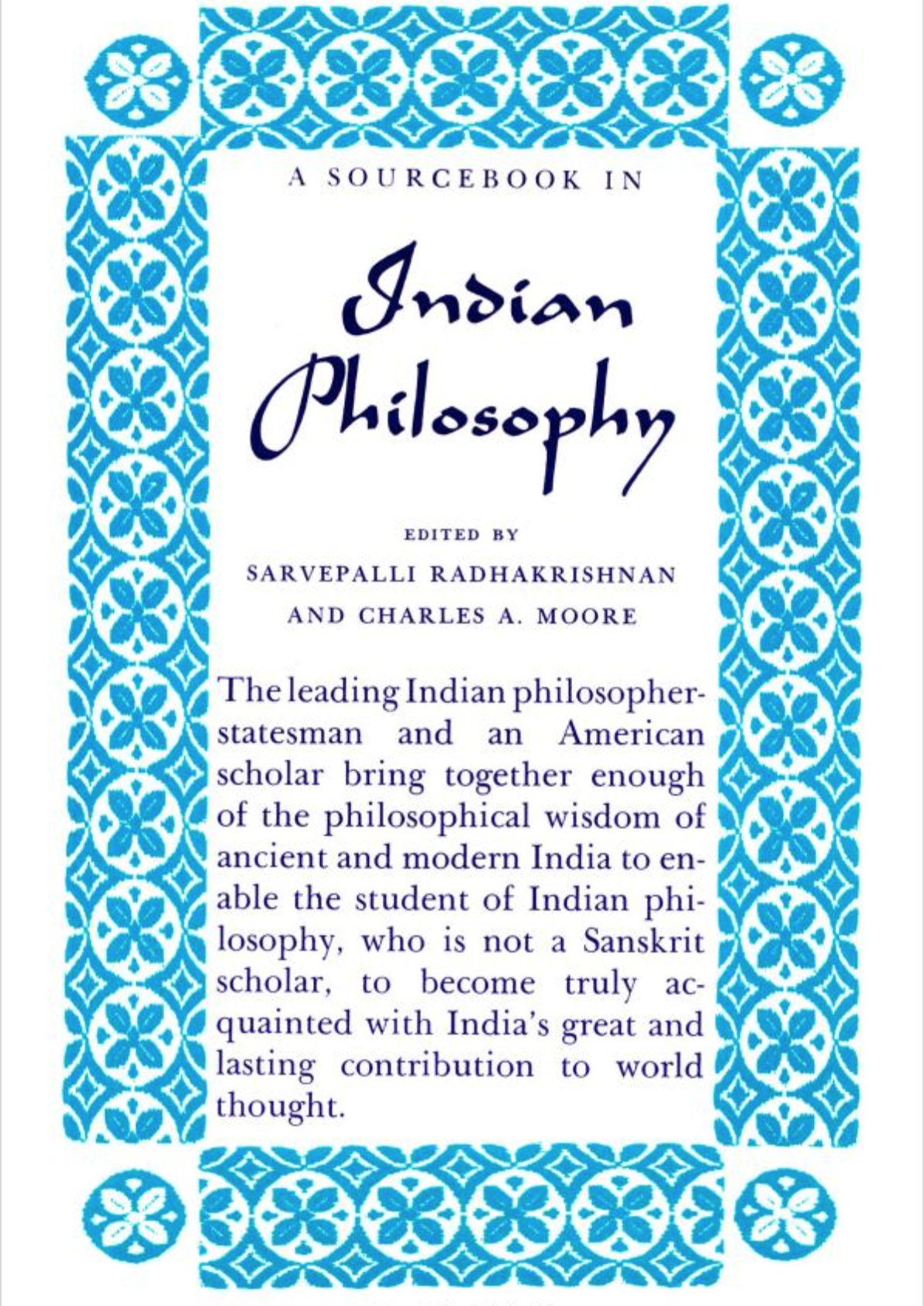 A Sourcebook in Indian Philosophy Indian philosophy