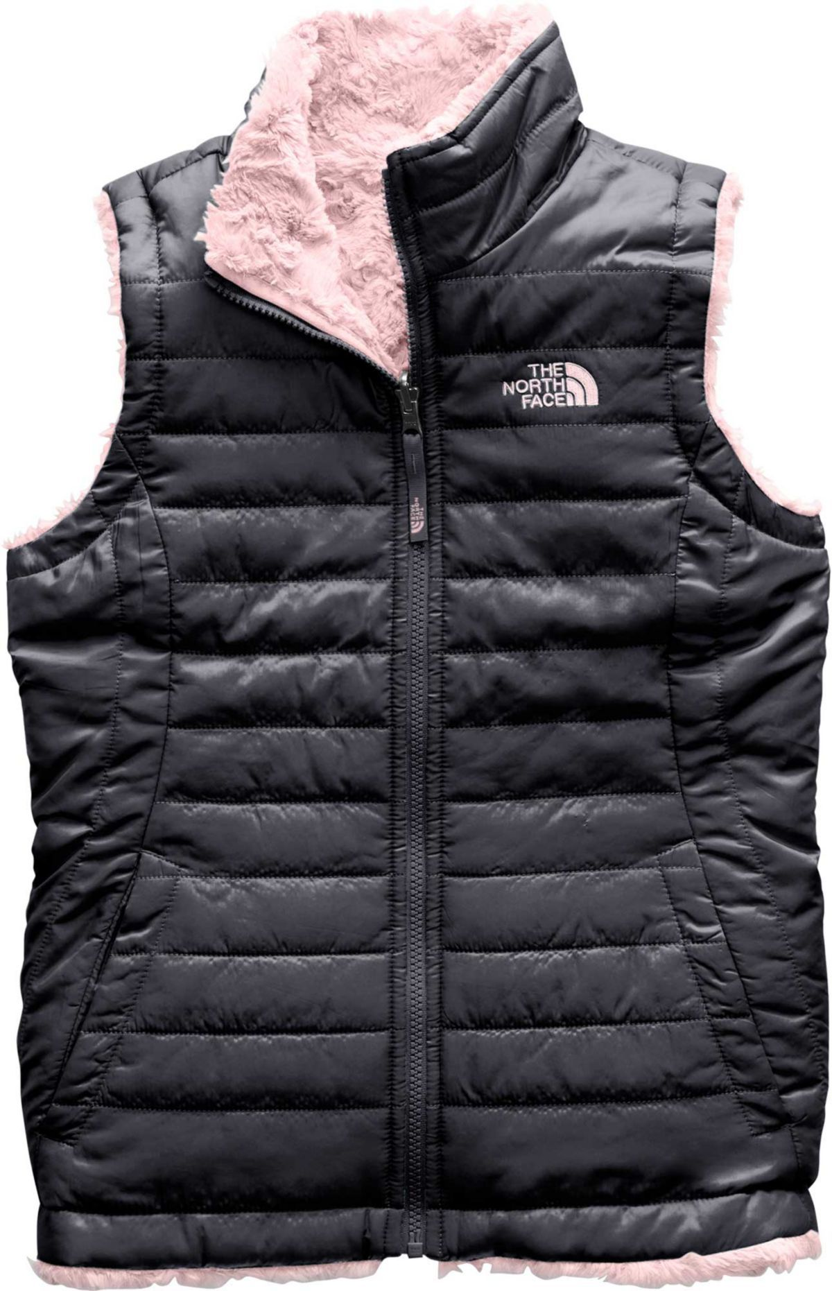 6dadfd20b98 The North Face Girls  Reversible Mossbud Swirl Insulated Vest in ...