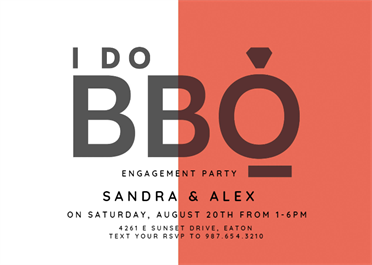 I Do Bbq Printable Invitation Template Customize Add Text And