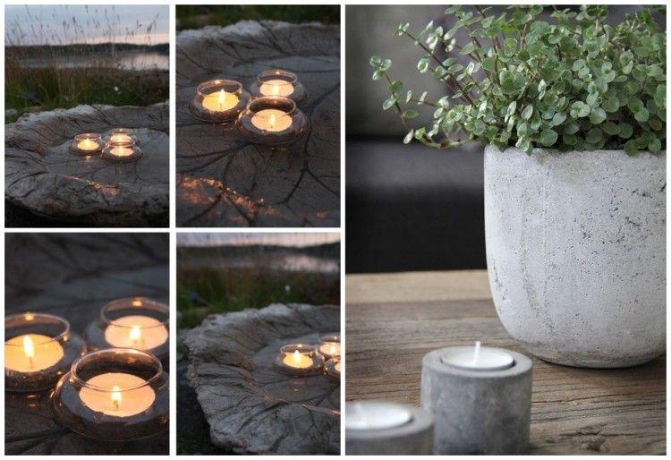 teelichthalter aus beton selber machen - Gartendeko Selber Machen Beton